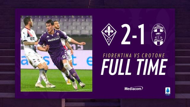 Fiorentina-Crotone 2-1, highlights