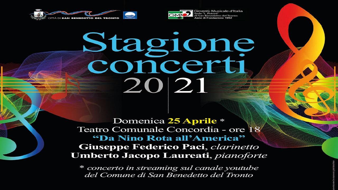 San Benedetto: stagione dei concerti, 25 Aprile si esibisce il duo Paci-Laureti