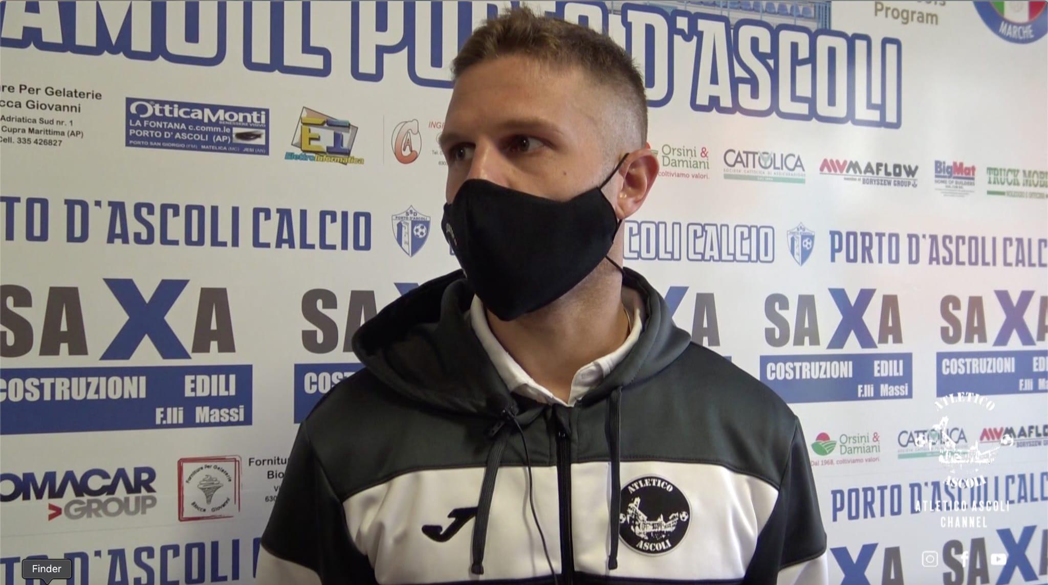 Porto d'Ascoli-Atletico Ascoli 0-1, le voci di Mauro e Jari Iachini post gara