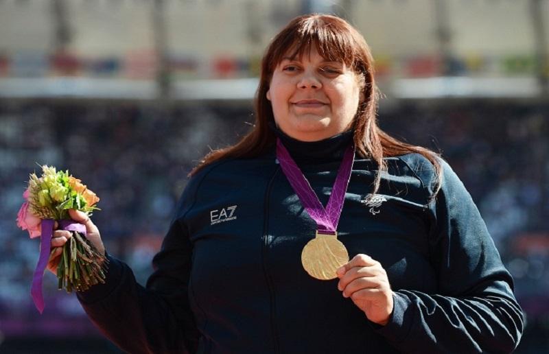 assunta legnante con l'oro olimpico a londra