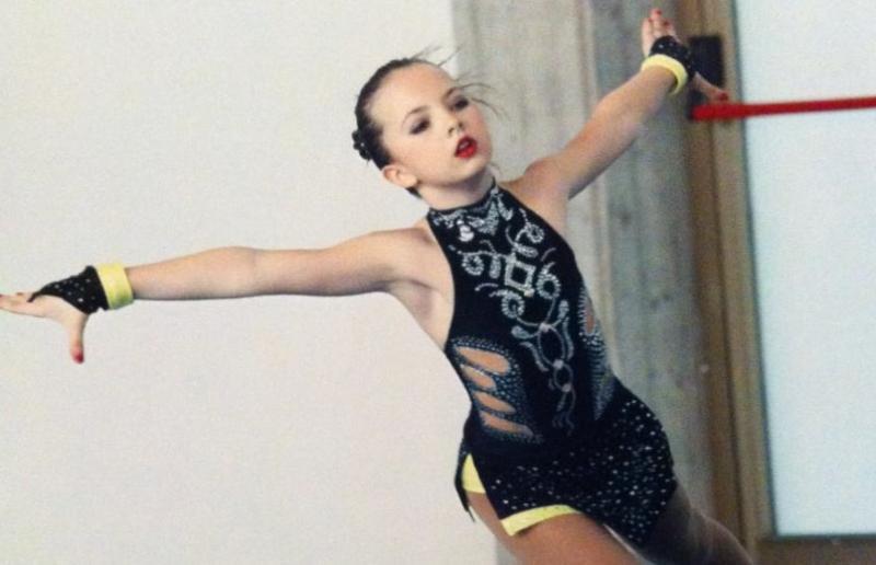 Aurora Sclocchini durante il suo esercizio