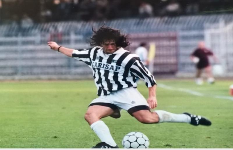 Pietro Zaini con la maglia dell'Ascoli