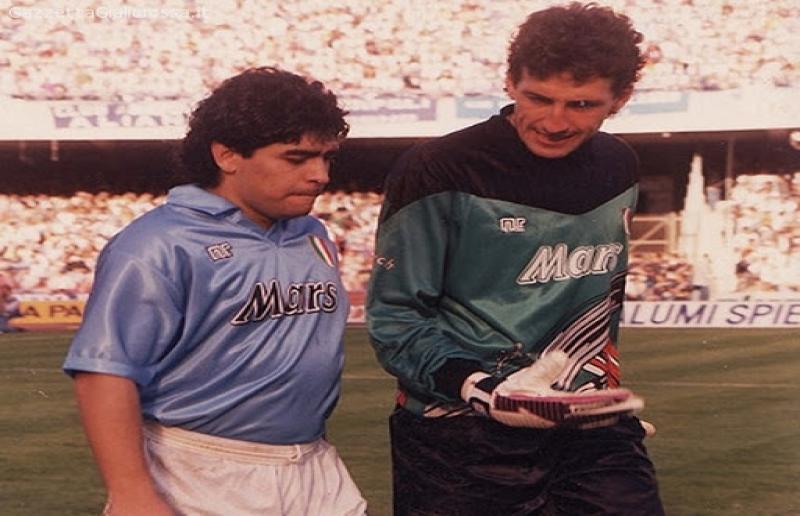 Giovanni Galli e Diego Maradona