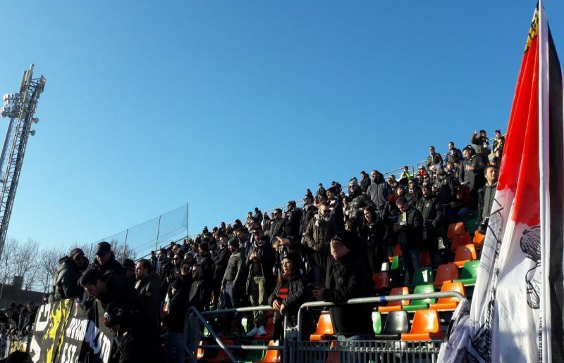 Tifosi Ascoli a Venezia (8 Dicembre 2018)