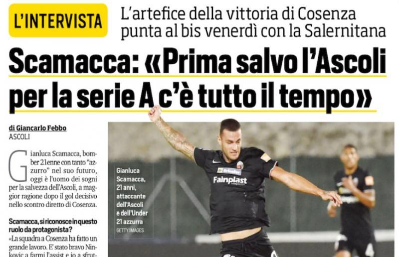 Gianluca Scamacca - Corriere dello Sport