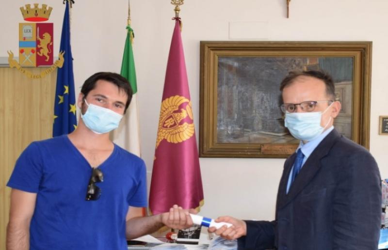 Nico Pruscini e questore Ascoli Piceno