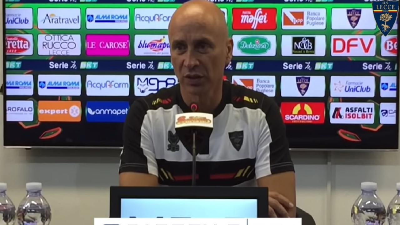 """Lecce-Pordenone 0-0, la voce di Corini: """"Farò delle valutazioni in Coppa in vista dell'importante trasferta di Ascoli"""""""