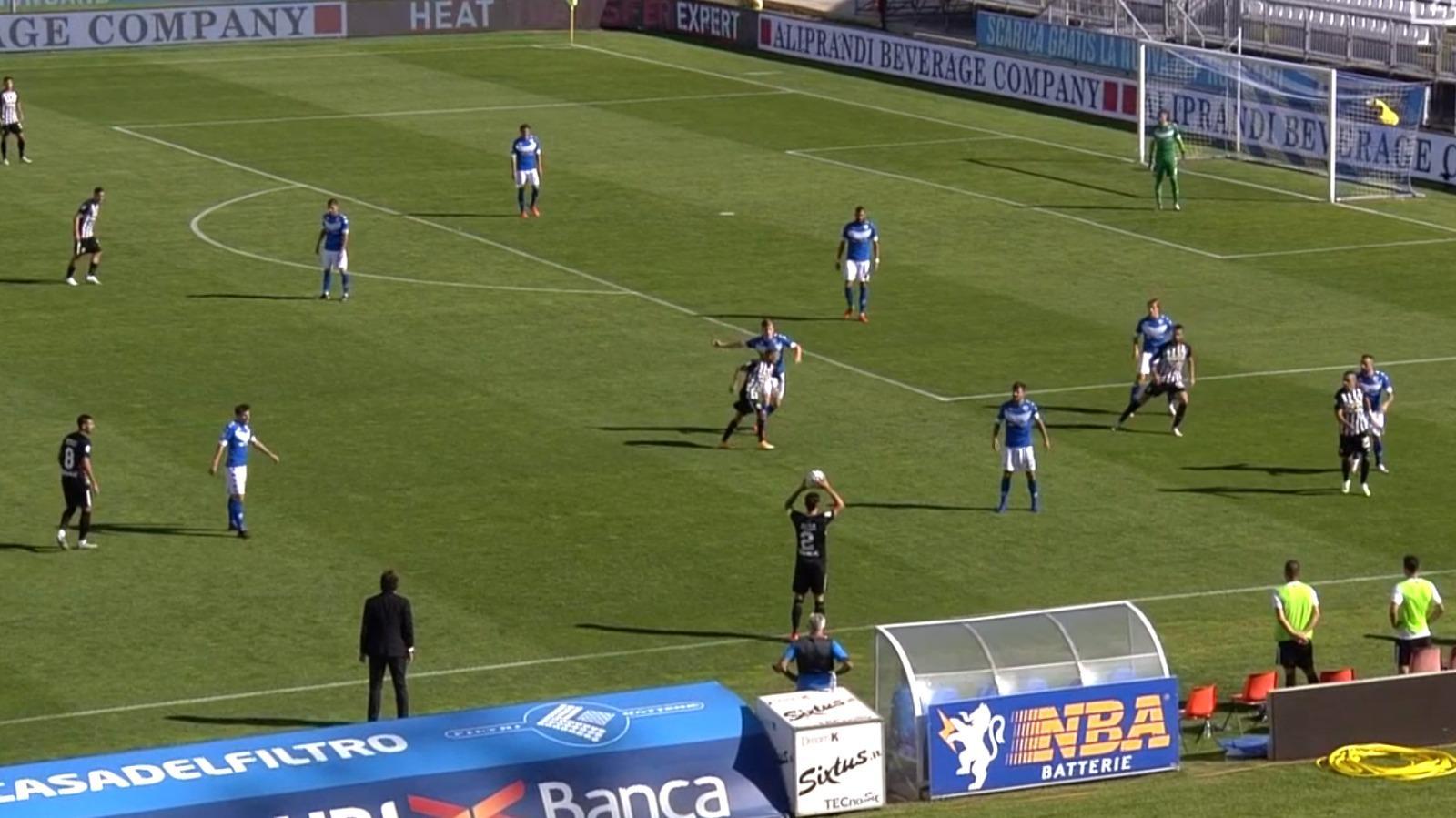 Brescia-Ascoli 1-1, primo punto per il Picchio. Donnarumma replica a Cavion, rosso a Papetti ad inizio ripresa