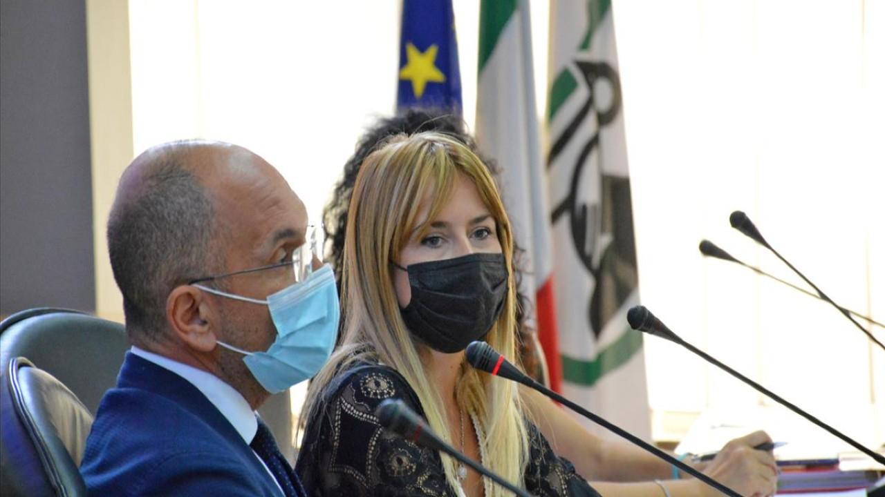 Guido Castelli e Giorgia Latini