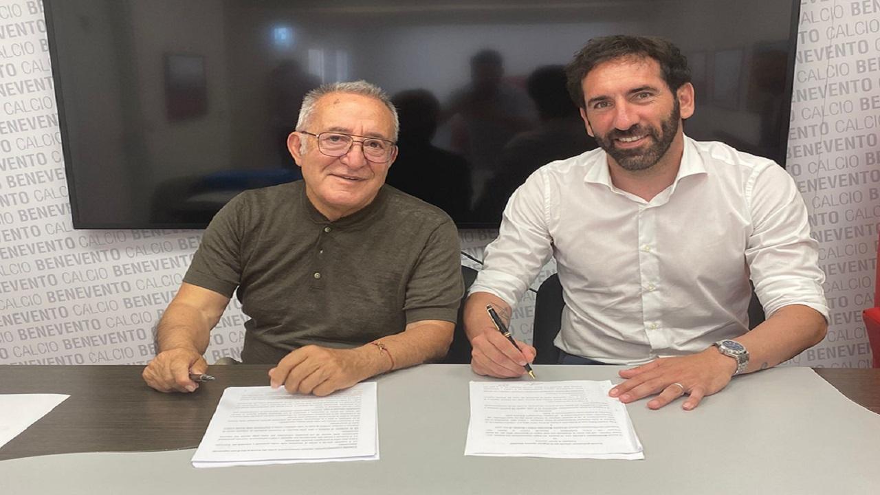 Benevento, è ufficialmente Caserta il nuovo allenatore. Contratto fino al 2023 più opzione