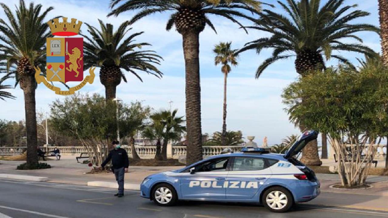 Polizia di Stato, servizi articolati sull'area costiera picena. Controllate oltre 120 persone