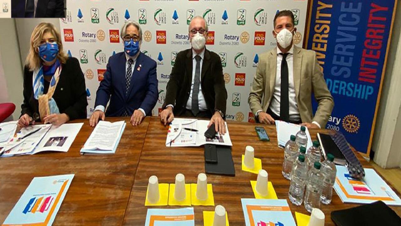Lega Serie B al fianco del Rotary per cancellare la poliomielite nel mondo