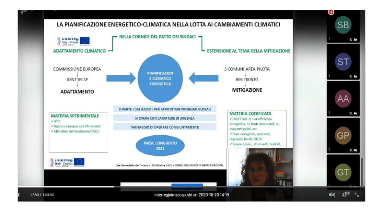 San Benedetto: ''Joint Secap'', si stringono i tempi per un piano intercomunale per l'energia e il clima