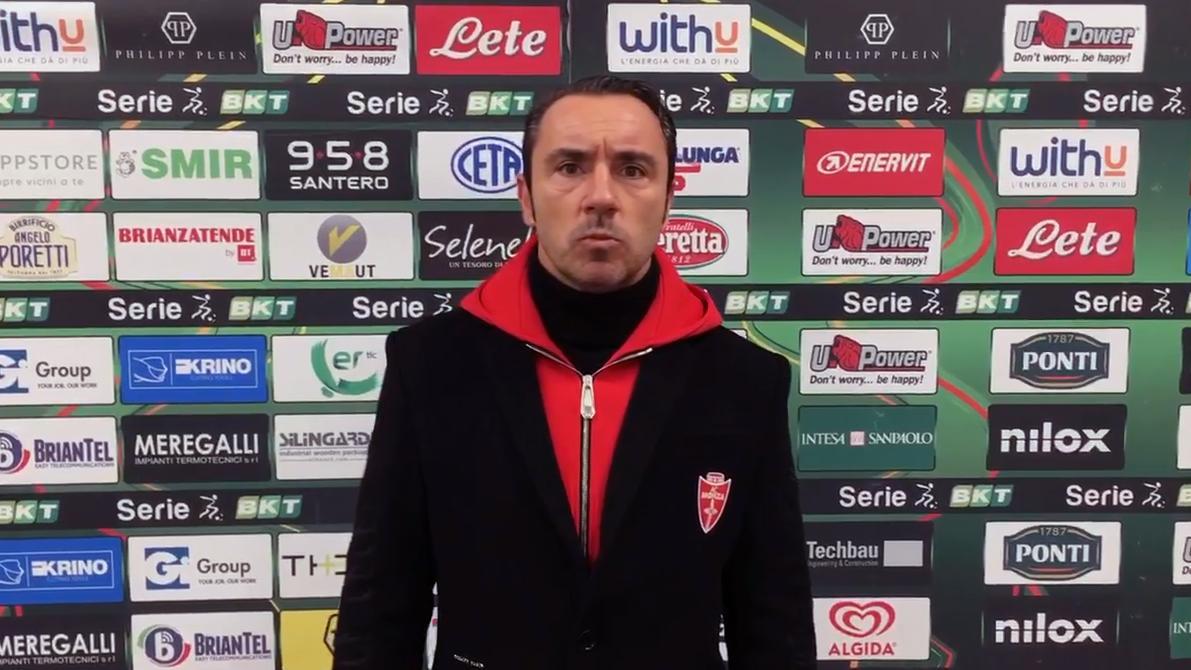 Monza-Vicenza 1-1, la voce di Brocchi post gara