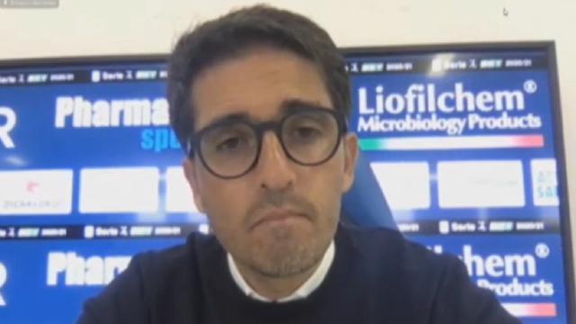 """Pescara-Entella 1-1, la voce di Grassadonia: """"Campionato non è finito, bisogna andare a vincere a Cosenza"""""""