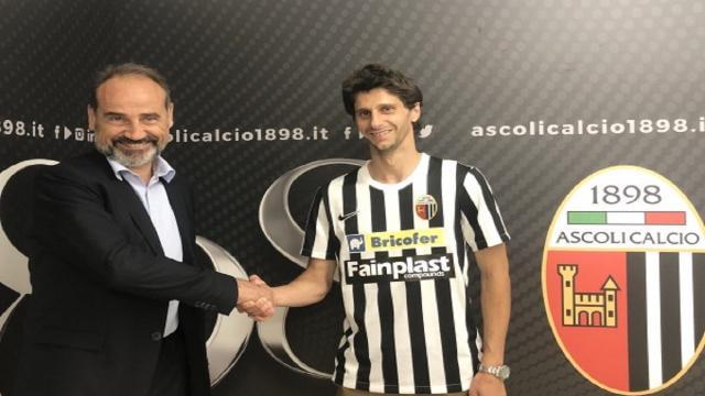"""Ascoli Calcio, ufficiale l'arrivo di Fabbrini: """"Occasione colta al volo. In attacco ho ricoperto tutti i ruoli"""""""