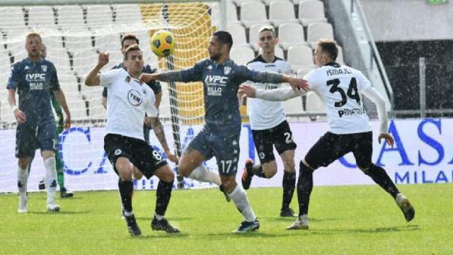 Spezia-Benevento 1-1, highlights