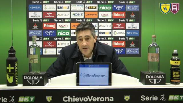"""Chievo-Entella 2-1, la voce di Aglietti: """"Bravi ragazzi, siamo stati sempre propositivi"""""""