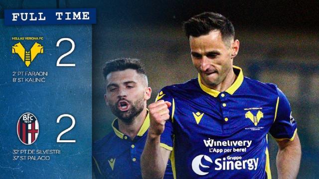 Verona-Bologna 2-2, highlights
