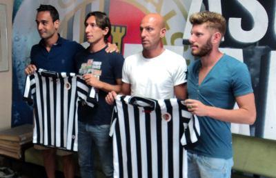 Ascoli Calcio, presentati Bianchi, Pestrin, Giacomini e Acampora