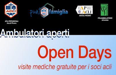 Ambulatori Aperti: Open Days con visite mediche gratuite