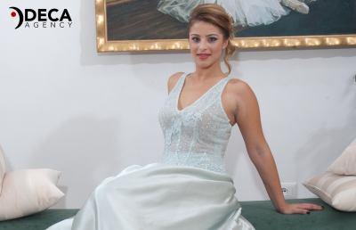 Abiti da sposa G&G Atelier, backstage Valentina