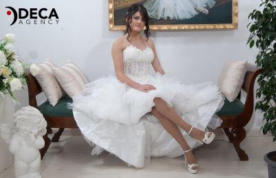 Abiti da sposa G&G Atelier, backstage Daniela