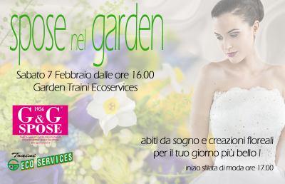 """""""Spose nel Garden"""", abiti da sogno e creazioni floreali"""