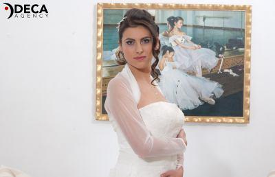 Abiti da sposa G&G Atelier, backstage Francesca