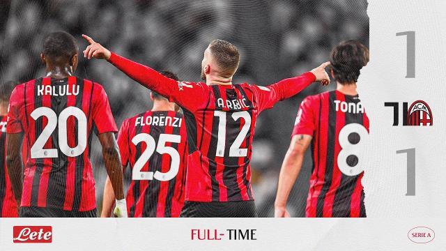 Juventus-Milan 1-1, highlights