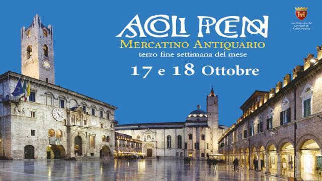 Ascoli Piceno, nel fine settimana edizione speciale del Mercatino dell'Antiquariato