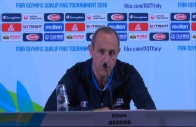 Italbasket, addio Olimpiadi. Coach Messina: ''Nulla da rimproverare''