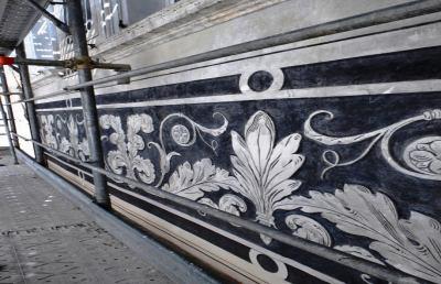 Ascoli, recuperati graffiti affreschi Palazzo Ferri-Cataldi
