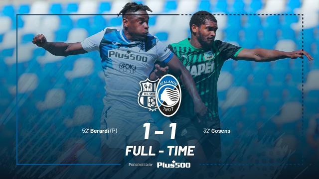 Sassuolo-Atalanta 1-1, highlights