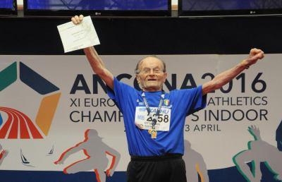 Atletica leggera, il marchigiano Olivieri compie 104 anni: ''Un augurio per tutti''