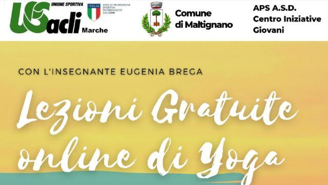 Maltignano, lezioni gratuite online di yoga con il progetto ''Il valore sociale dello sport''