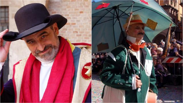 Ascoli Piceno, due personaggi del Carnevale nel Registro Storico Maschere Italiane