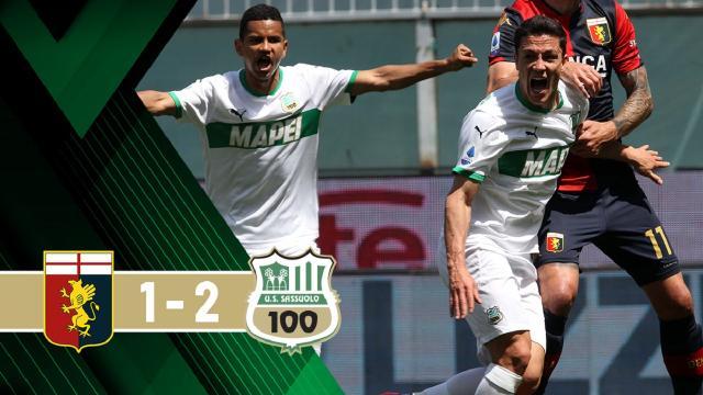 Genoa-Sassuolo 1-2, highlights