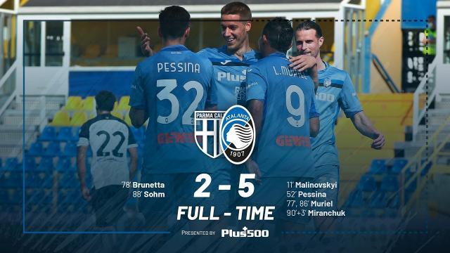 Parma-Atalanta 2-5, highlights