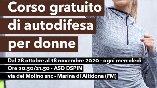 Altidona, da fine Ottobre corso gratuito di autodifesa per donne presso Asd Dspin