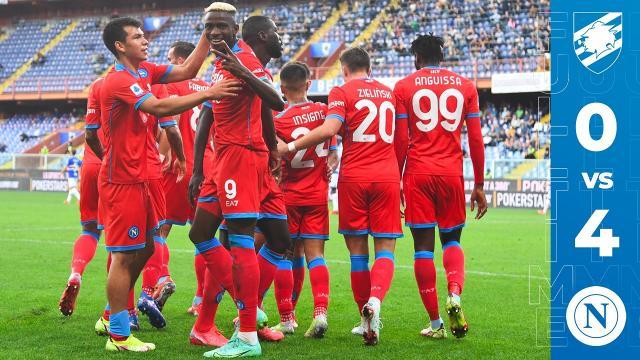 Sampdoria-Napoli 0-4, highlights. Spalletti resta in testa a punteggio pieno