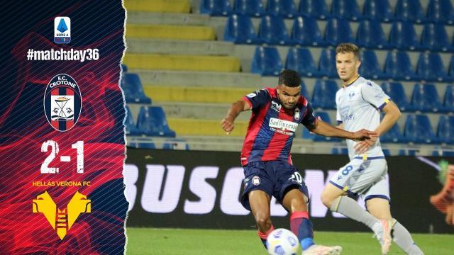 Crotone-Verona 2-1, highlights