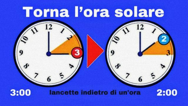Torna l'ora solare. Lancette indietro di un'ora con 60 minuti di sonno in più