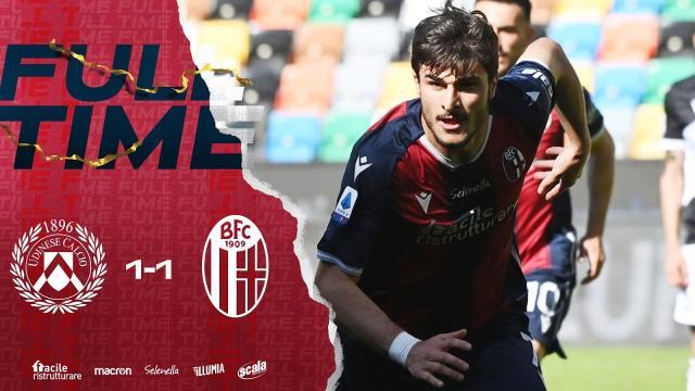 Udinese-Bologna 1-1, highlights. Sesta rete in campionato per Orsolini