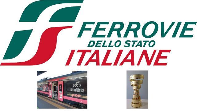 Ciclismo, il Trofeo del Giro d'Italia viaggia in treno anche nelle Marche