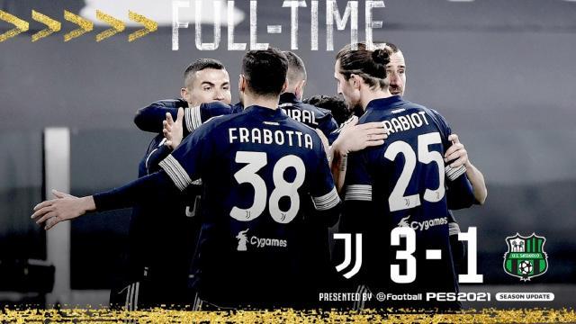 Juventus-Sassuolo 3-1, highlights