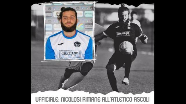 Atletico Ascoli: continuano le conferme, resta anche il 30enne difensore Nicolosi