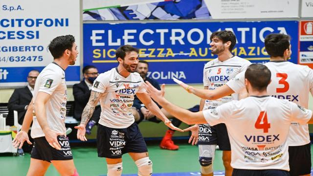 Pallavolo Serie A3, altro 3-0 per la Videx Grottazzolina e sesta vittoria consecutiva