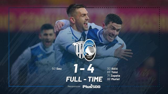 Benevento-Atalanta 1-4, highlights