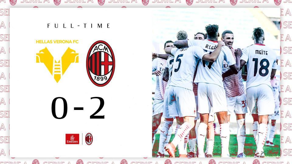 Verona-Milan 0-2, highlights